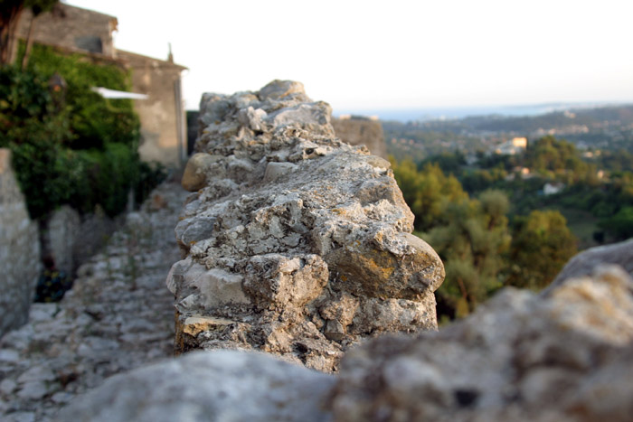 St.Paul de Vence's ramparts and the French riviera beyond