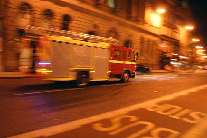 A Firetruck in Fleet Street, London